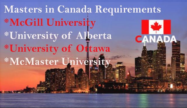 Masters in Canada Requirements