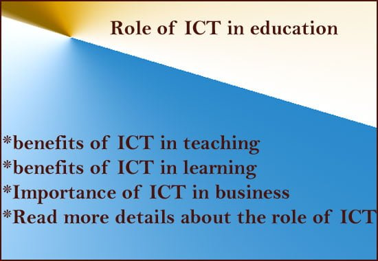 Role of ICT in education