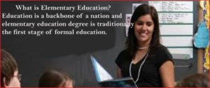 what is elementary education