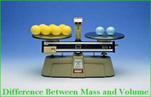Difference between Mass and Volume