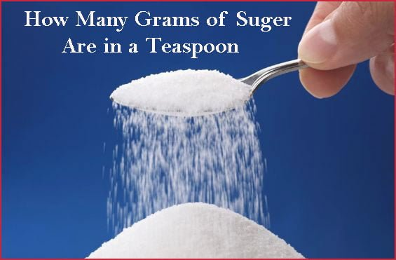 How many grams of Sugar are in a teaspoon