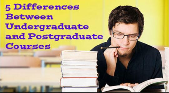 Difference between undergraduate and postgraduate