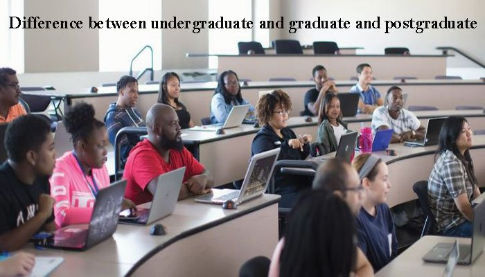 difference between undergraduate and graduate and postgraduate
