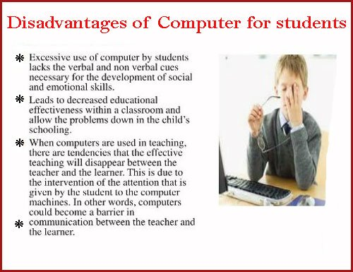 Disadvantages of Computer for Students