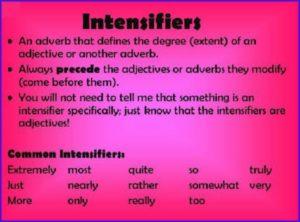 Intensifiers