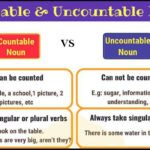 Difference between Countable and Uncountable nouns