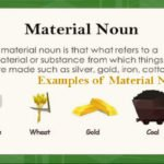 Material noun with examples, definition and more