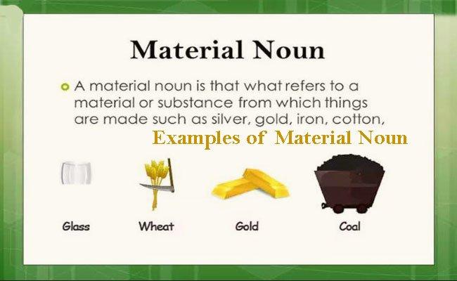 Material Noun