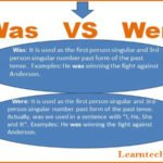 Was VS Were | Difference between Was and Were with examples