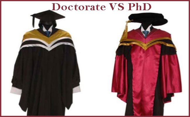 difference between phd and Doctorate