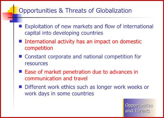 Opportunities of globalization