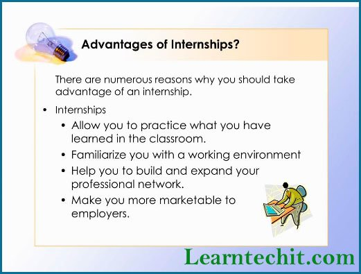 advantages of internship