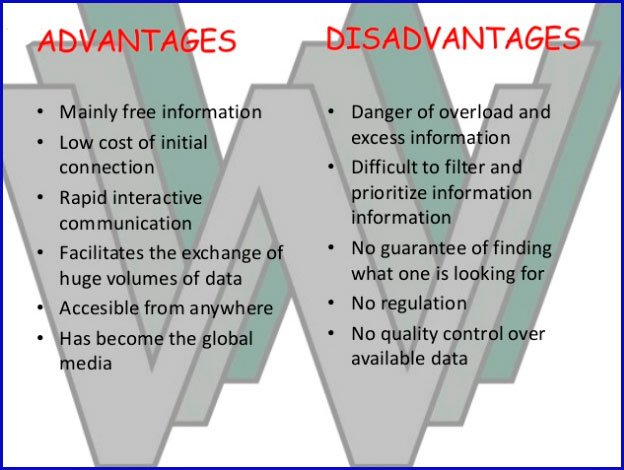 Advantages and disadvantages of World Wide Web