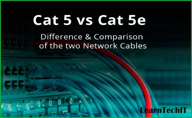 Difference between Cat5 and Cat5e
