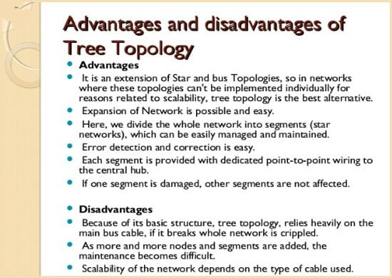 advantages and disadvantages of Tree Topology