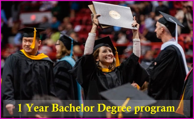 1 year bachelor degree