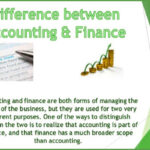 What is the Difference between finance and accounting?