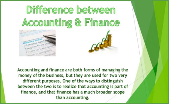 Difference between Finance and accounting